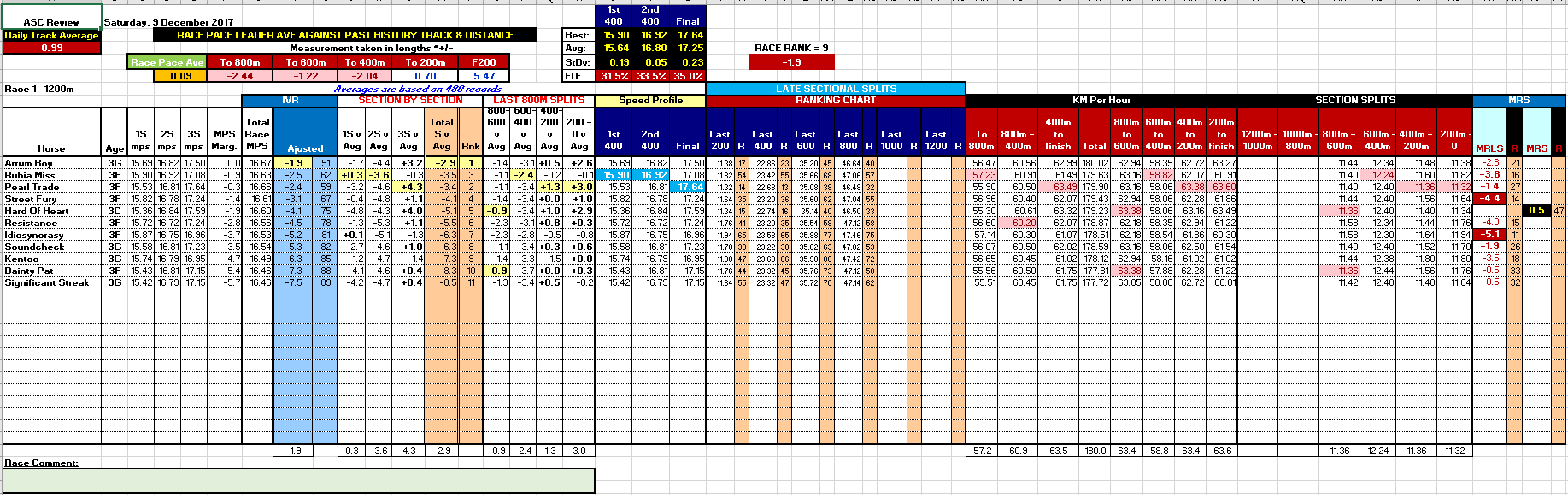 horse racing form guide in excel format